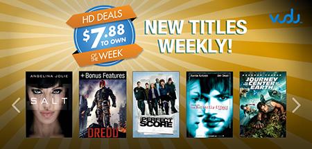 VUDU's $7.88 HD Movie Sale