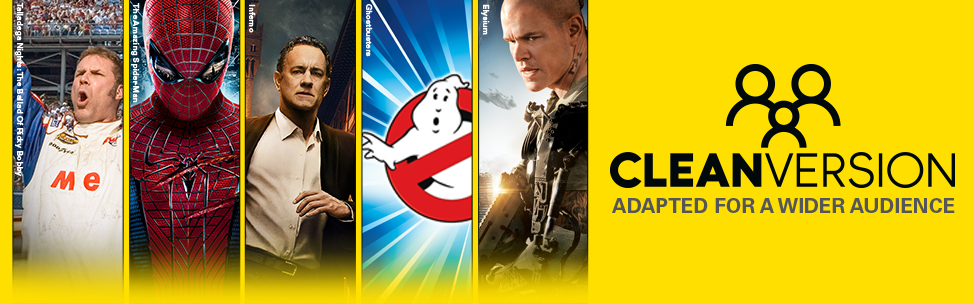 Vudu now has Clean Versions of your favorite Sony films!