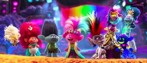 Diverse trolls on stage