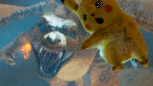 yellow pikachu running from dragon