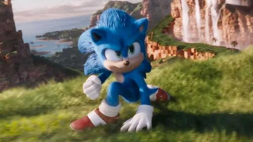 blue hedgehog in grass