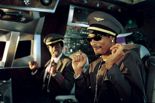 two airplane pilots dancing