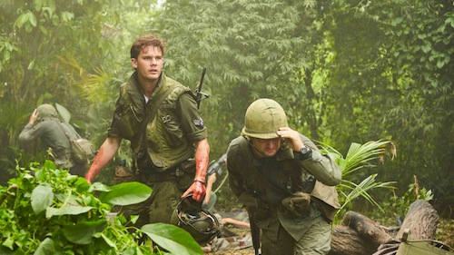 two soldiers in a jungle