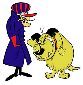 wacky races man in purple and yellow dog