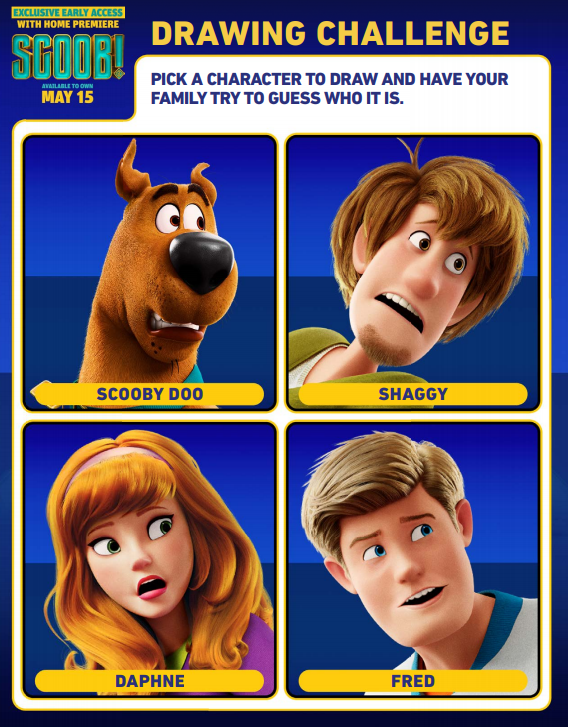 draw scoob character activity