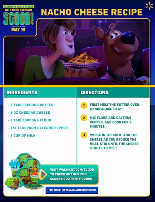 scoob nacho cheese recipe instructions
