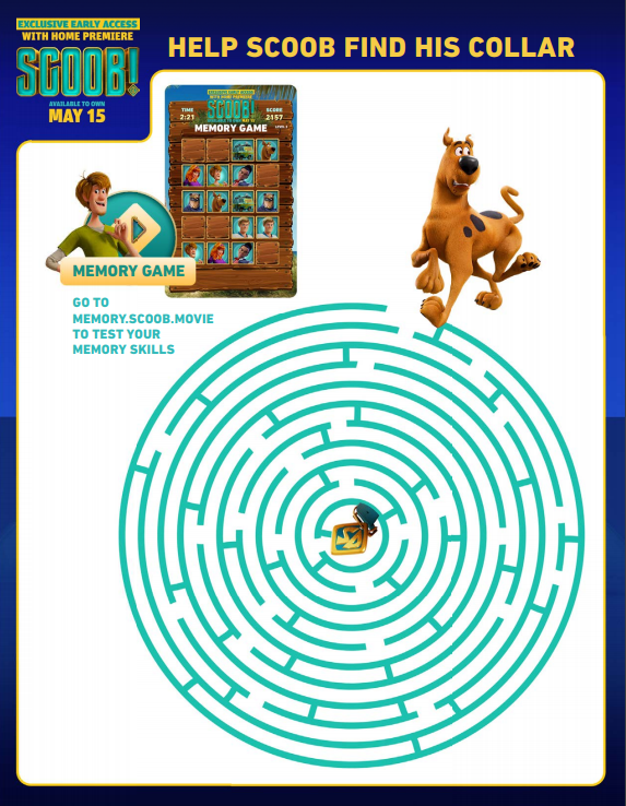 Scoob maze activity
