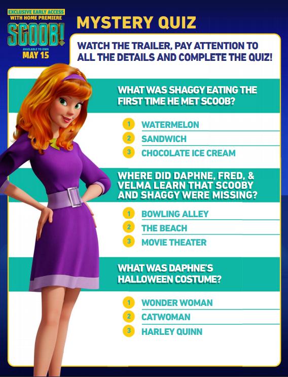 Scoob mystery quiz