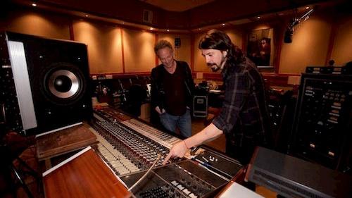 two men in movie studio