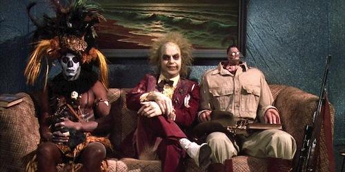 strange man sitting in waiting room with strange people