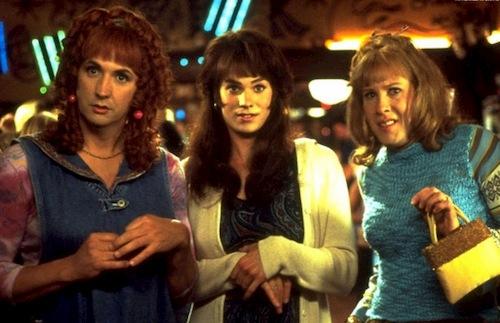 three men dressed as women