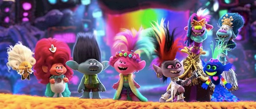 Different trolls on stage