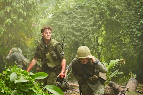 army men running through jungle
