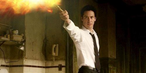 Man in white shirt shooting fire