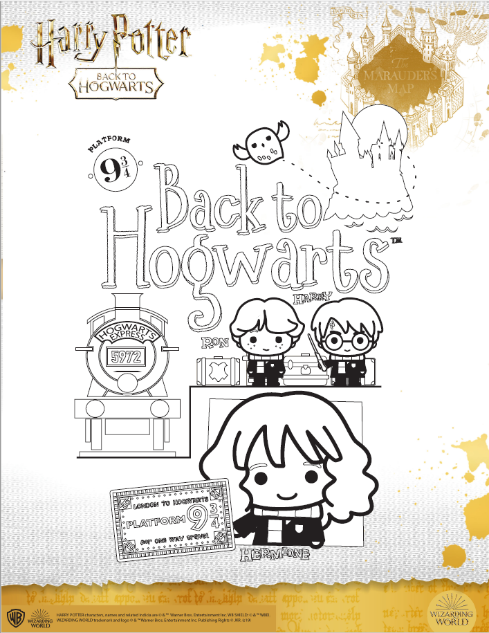 Harry Potter character coloring sheet