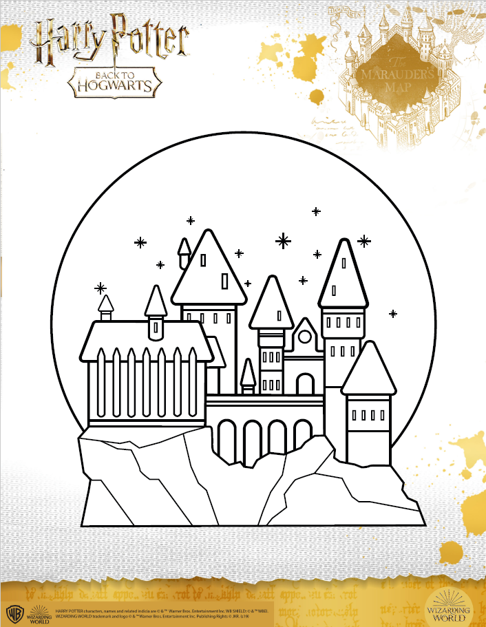 Hogwarts castle coloring sheet