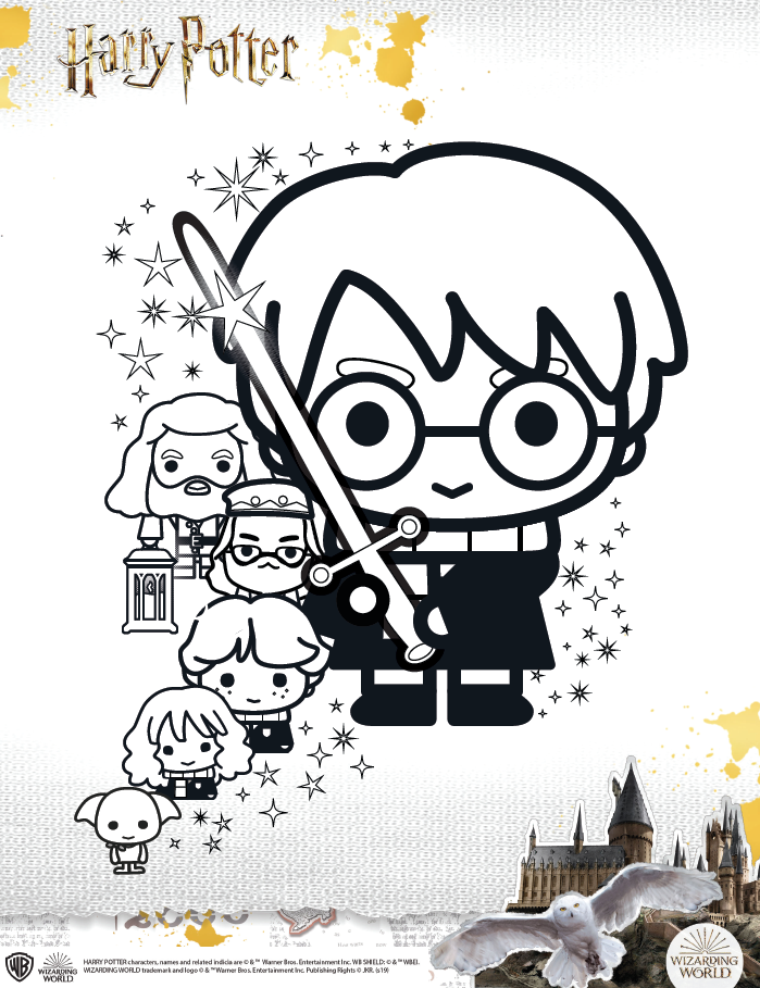 Harry Potter coloring sheet