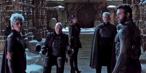 group of people in black standing