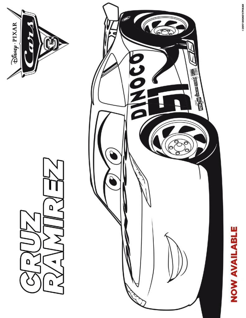 cars coloring sheet