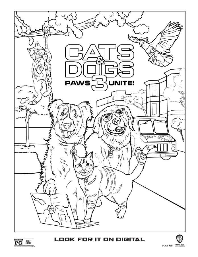 Cats Dogs Coloring sheet