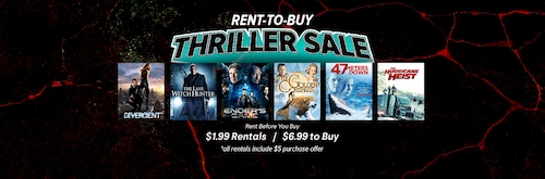 rent to buy thriller sale movies